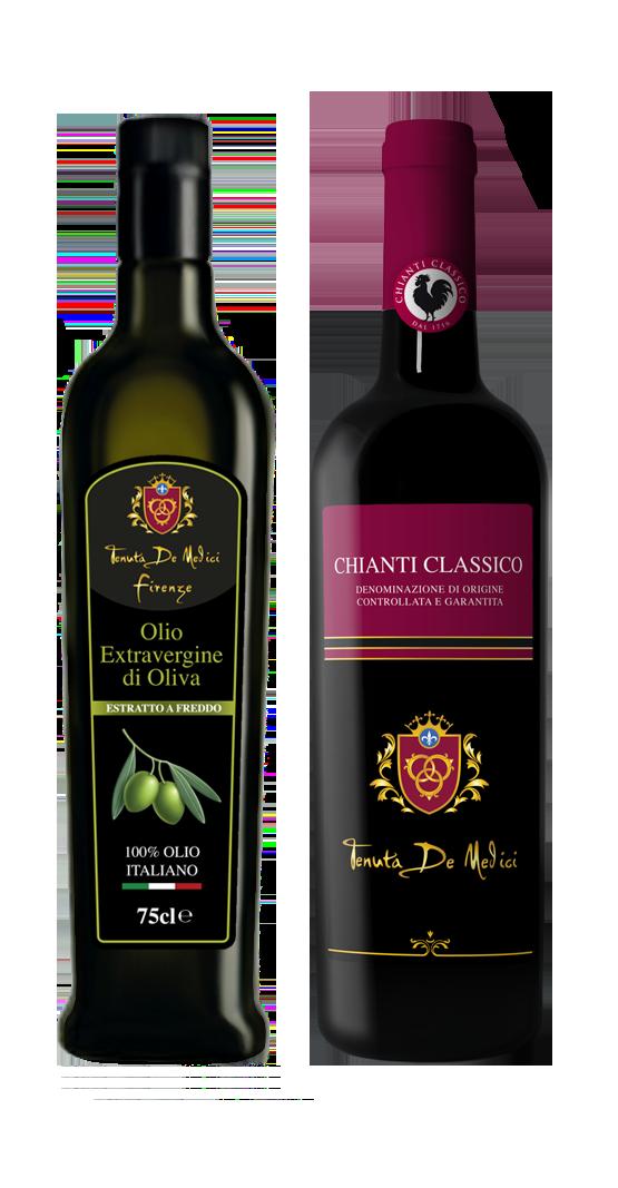 Olio Extravergine di Oliva e Chianti Classico